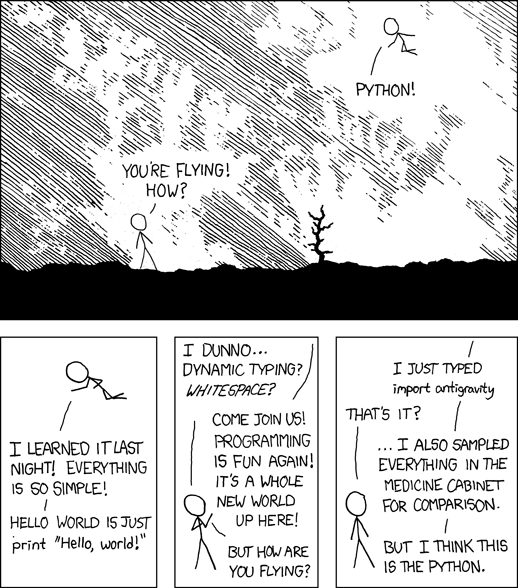 XKCD about learning Python